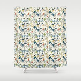 Touring Bicycles Shower Curtain