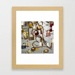 heart-locked Framed Art Print