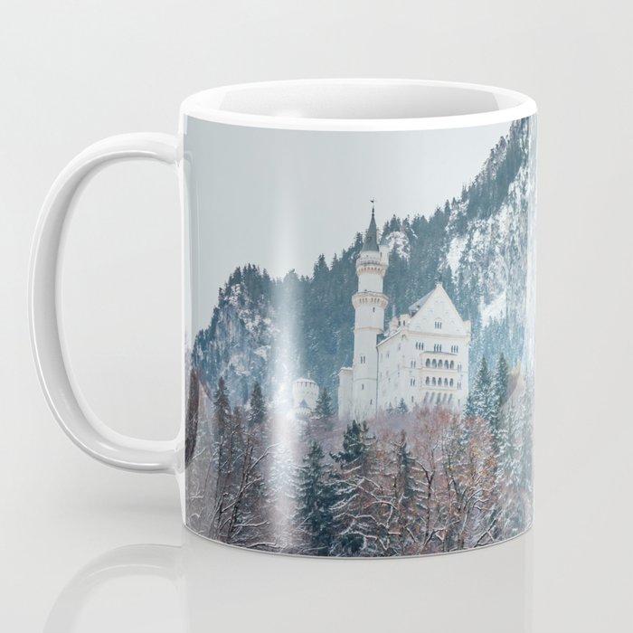 Neuschwanstein Castle with Bavarian Alps in background Coffee Mug