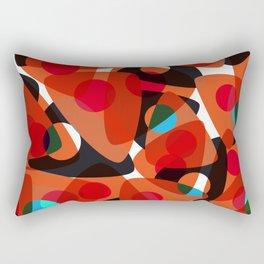 orange 70s Rectangular Pillow