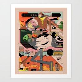 Modern Pizza Bird House Art Print