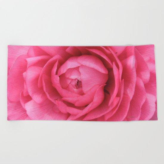 Petals in the Pink Beach Towel