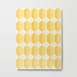 Hexagonal Pattern - Golden Spell Metal Print