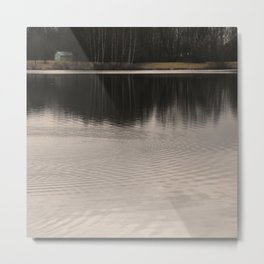 Silent place. River and woods. Metal Print