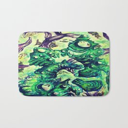 Under the Sea Watercolor Painting Bath Mat