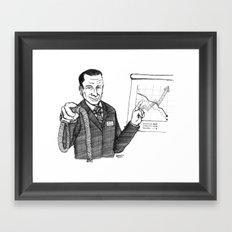 Gestion Raisonnée Du Surcroît Humain Framed Art Print
