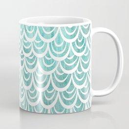 Watercolor Mermaid Turquoise Coffee Mug