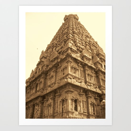 Brihadeeswara Temple Art Print