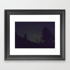 Stars in Yosemite Framed Art Print