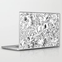 it crowd Laptop & iPad Skins featuring Crowd by Sára Szabó