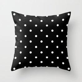Dots BlackandWhite Throw Pillow