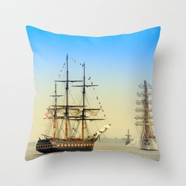 Sail Boston - Oliver Hazard Perry Throw Pillow