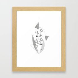 Flower of May - Lily of the Valley Framed Art Print