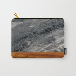 Marble and Wood 3 Carry-All Pouch