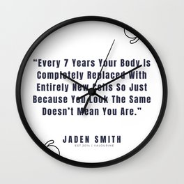 31 |  Jaden Smith Quotes | 190904 Wall Clock