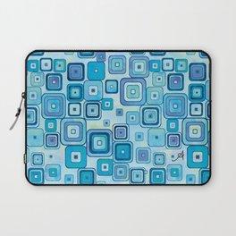 Watercolour Squares Blue Amanya Design Laptop Sleeve