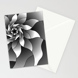Black and grey pinwheel Stationery Cards