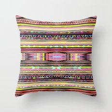 Electric Neon Valley Throw Pillow