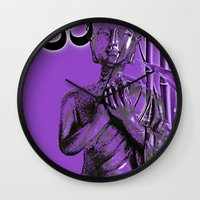 om Wall Clocks featuring OM by Enri-Art