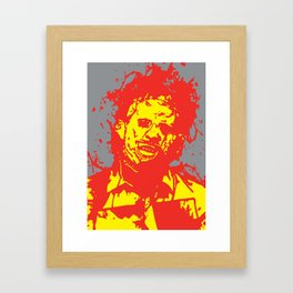 August 18, 1973: Bloodstain Leatherface (color combination I) Framed Art Print