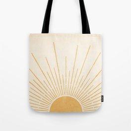 Sun #5 Yellow Tote Bag