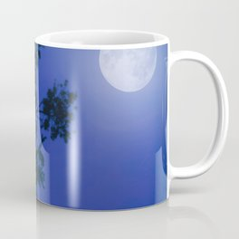 Moonlight Dreams in Blue Coffee Mug