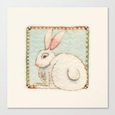 Snowy Rabbit Canvas Print