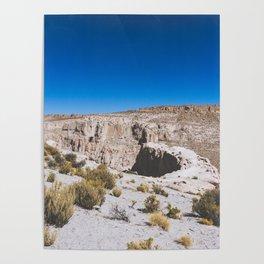 Over the Edges of the Atacama Desert, Bolivia Poster