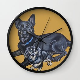 Lincoln and Zelda Wall Clock