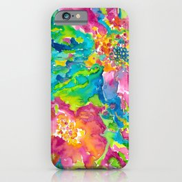 Watercolour Flowers iPhone Case