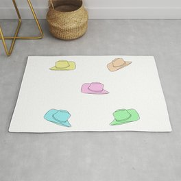 Little Rainbow Cowboy Hats  Rug