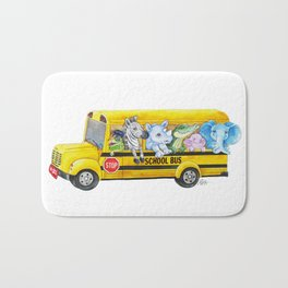 Animal SchoolBus Bath Mat