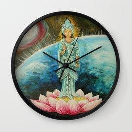 Quan Yin Wall Clock