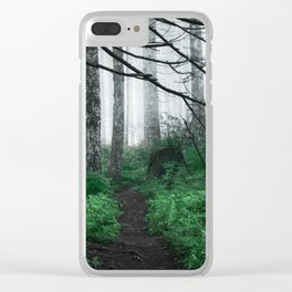 Forest Trail Hiking PNW Clear iPhone Case