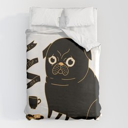 Tea Pug Duvet Cover
