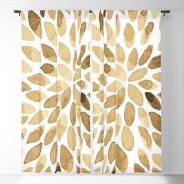 Watercolor brush strokes - neutral Blackout Curtain