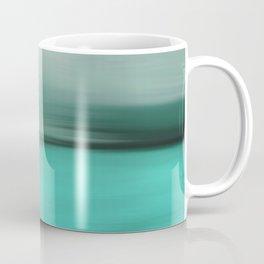 Modern abstract gray mint green teal brushstrokes ikat Coffee Mug