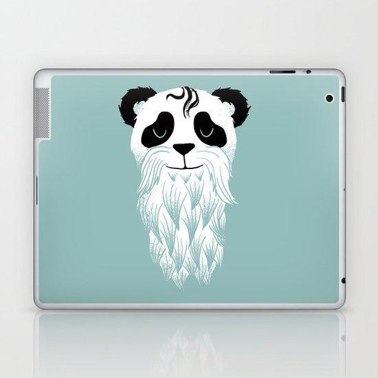 Panda Beard Laptop & iPad Skin