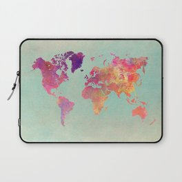 world map 102 #worldmap #map Laptop Sleeve
