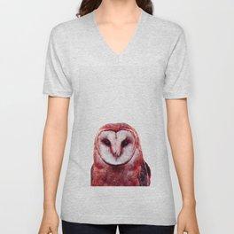 Red owl Unisex V-Neck