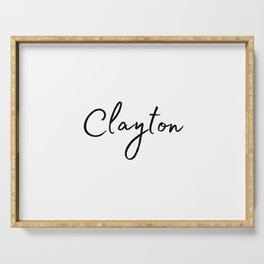 Clayton Calligraphy Serving Tray