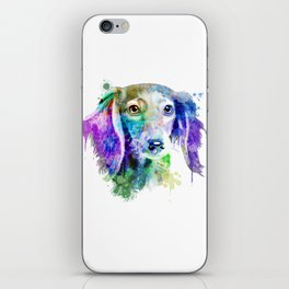 Dachshund watercolor, Watercolor Dachshund, Watercolor dog, Dachshund portrait iPhone Skin