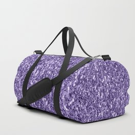 Ultra violet purple glitter sparkles Duffle Bag