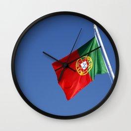 Portuguese national flag Wall Clock