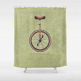 Unicycle Shower Curtain