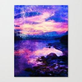 Abstract Sunburst Beach Canvas Print