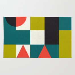 Mid-century block pattern Rug