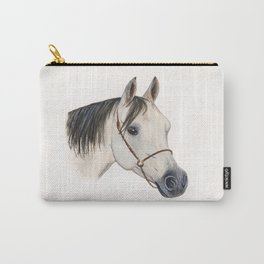 Grey Arabian Horse Carry-All Pouch