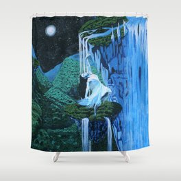 Secret midnight falls Shower Curtain