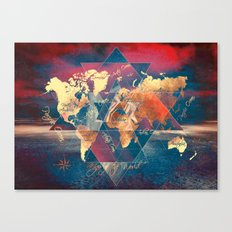 world map 34 sacred Canvas Print